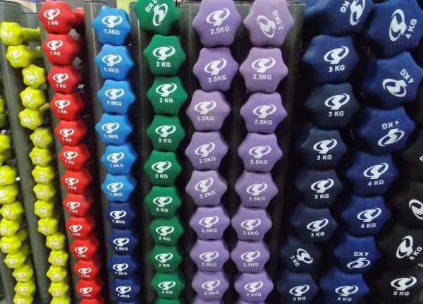 coloured-dumbells